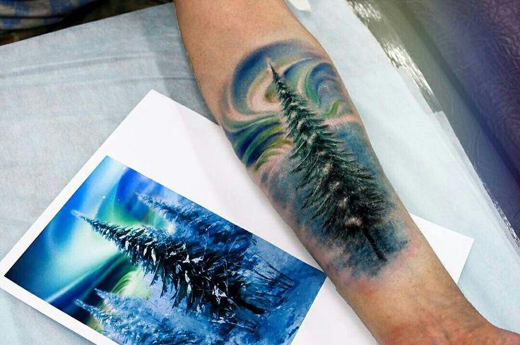 Tattoo done by: Anna Yershova #tatuaje #tattoo #arbol #colourtattoo