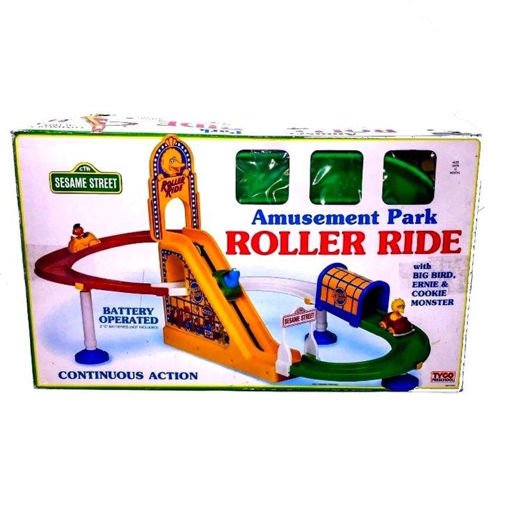 Sesame Street Amusement Park Roller Ride Toy Tyco Tested Works Great #SesameStreet