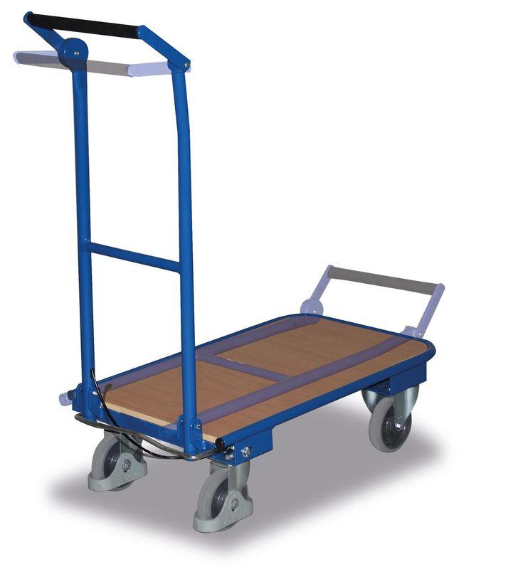 GTARDO.DE:  Klappbügelwagen, Tragkraft 150 kg, Ladefläche 720 x 450 mm, Maße 815 x 450 x 940 mm, Rad 125 mm 239,00 €