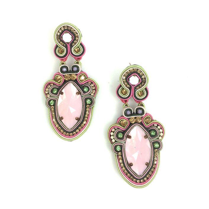 Pink Gardenia Earrings