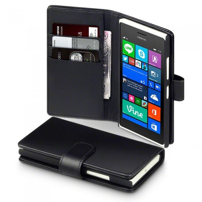 Svart läderplånbok till Lumia 735. Köp snygga fodral idag via länken: http://www.phonelife.se/mobilfodral