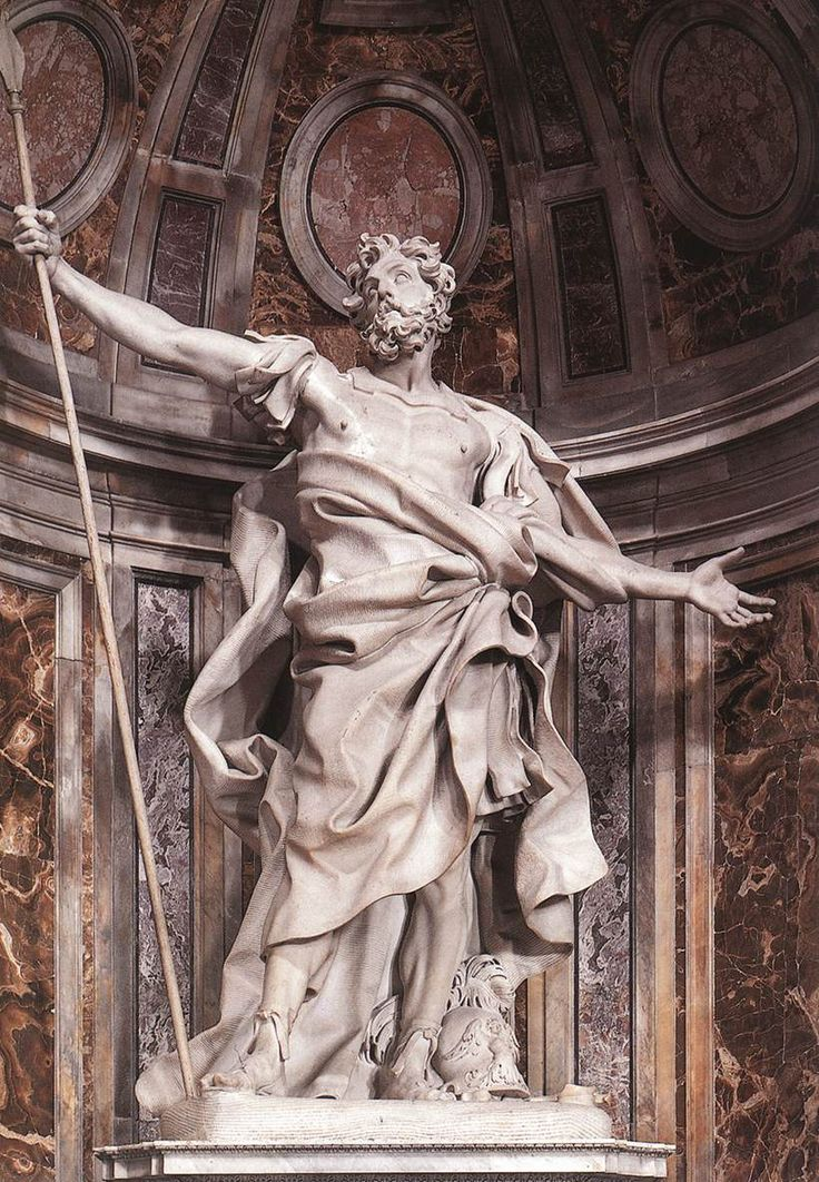 """This statue is called """"Saint Longinus"""". It is by Gian Lorenzo in ..."""