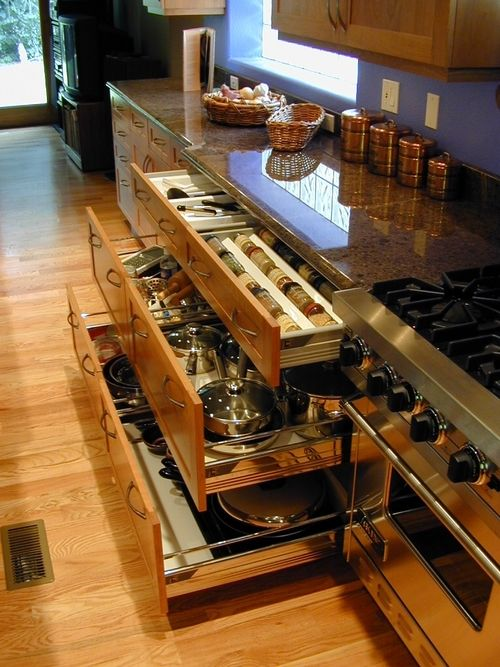 love it!  This must be a galley kitchen like mine. Love the utilization of the space