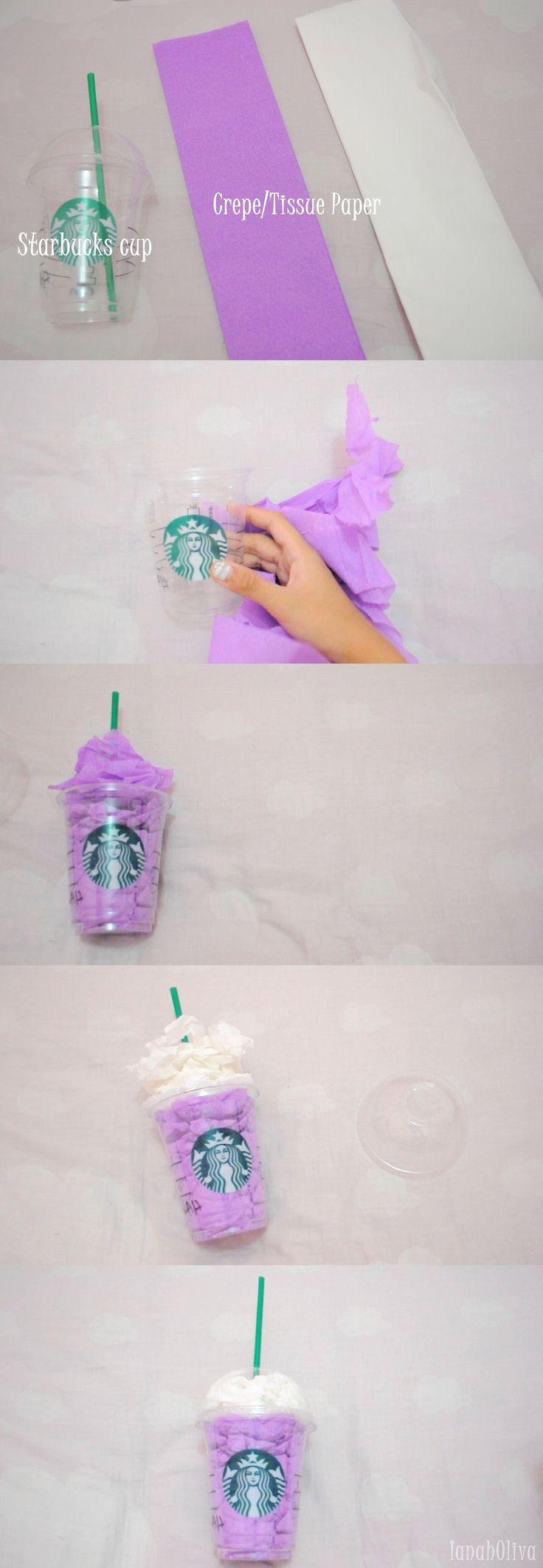 DIY Room Decor: Starbucks Cup                                 DIY Craft for teens