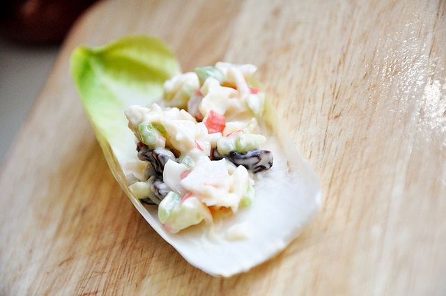 Crab Salad on Endive - France | NYE Party | Pinterest