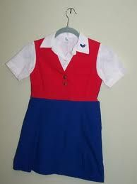 Blue Bird uniform, in the mid 1960's..I was a blue bird then a camp fire girl. Fun times..