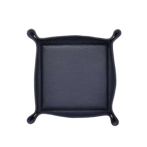 Leather Valet Tray | Catch All  | Travel Tray Set - NAVY by MISHKA