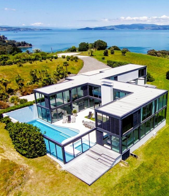Storage Shipping Container Homes: U Shaped Container House With Pool