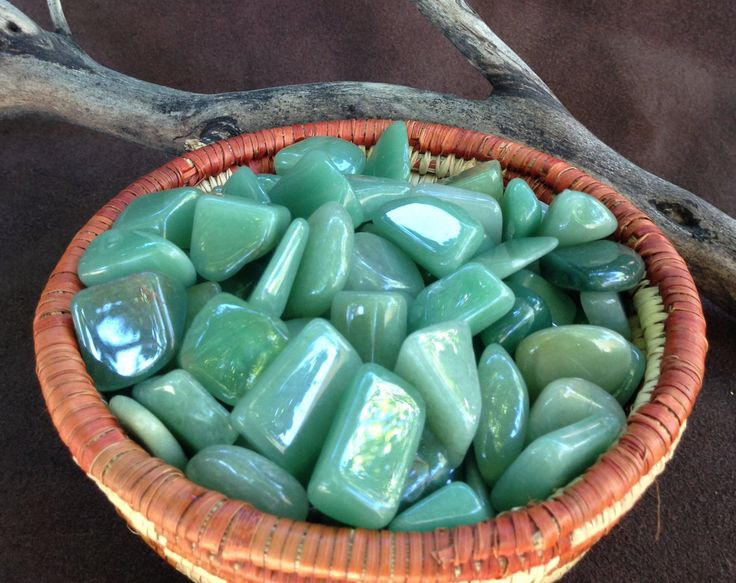 Sage Goddess - Green Aventurine pair of tumbled stones - The Growth and Abundance Stone - for prosperity