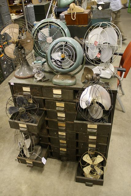 Vintage Fans by Cynthea's Spa, via Flickr