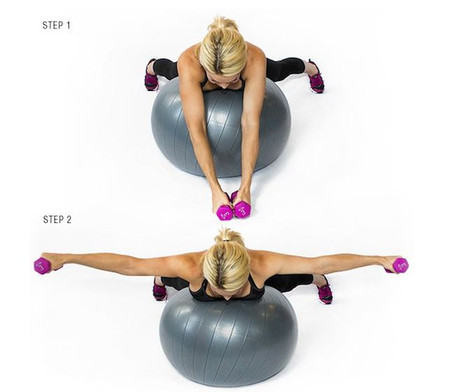 Stability Ball Workout Routine: Sculpting, Sexy Arms And Sexy On Pinterest