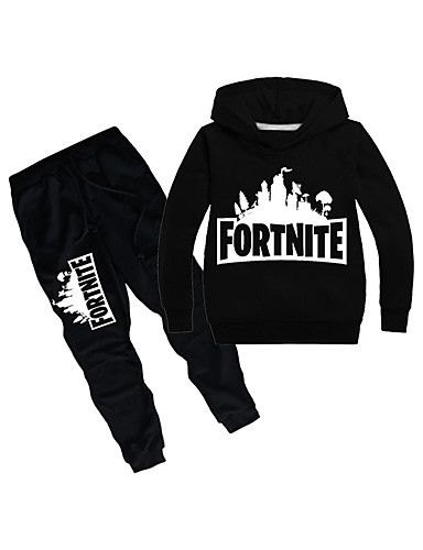 f34f053a6 Kids Boys' Basic Geometric Long Sleeve Regular Polyester Clothing Set Black
