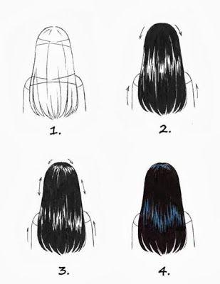 Copic Marker Deutschland Blog: Schwarze Haare kolorieren