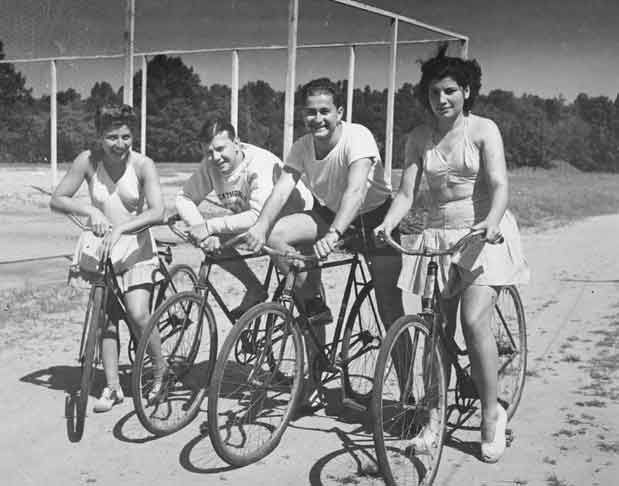 Bicycling-1940s. Simpler times.