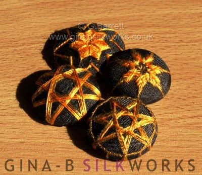Westeros Star thread buttons by Gina Barrett