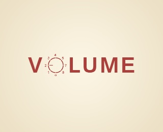 VOLUME LOGO by Lasha Simonishvili (Roy) (via Creattica)