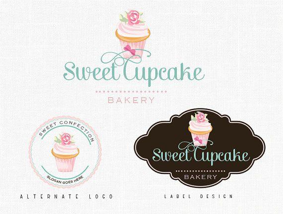 Bakery Logo Design Label design Cupcake Logo Sweets Logo Design