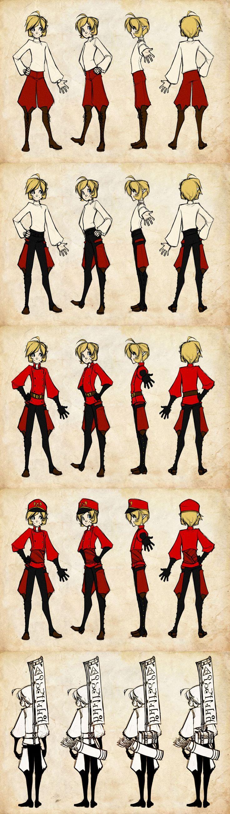 Child Link Messenger Uniform Reff by DemonRoad.deviantart.com on @deviantART HES SO ADORABLE!!!!
