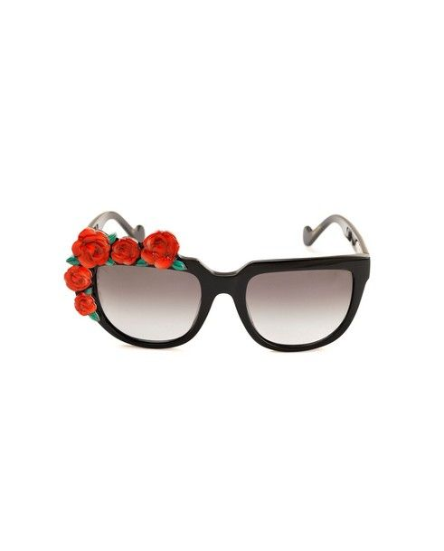 ANNA-KARIN KARLSSON Sunglasses Rose Rouge black variant graded black lenses acetated material provided with case and box