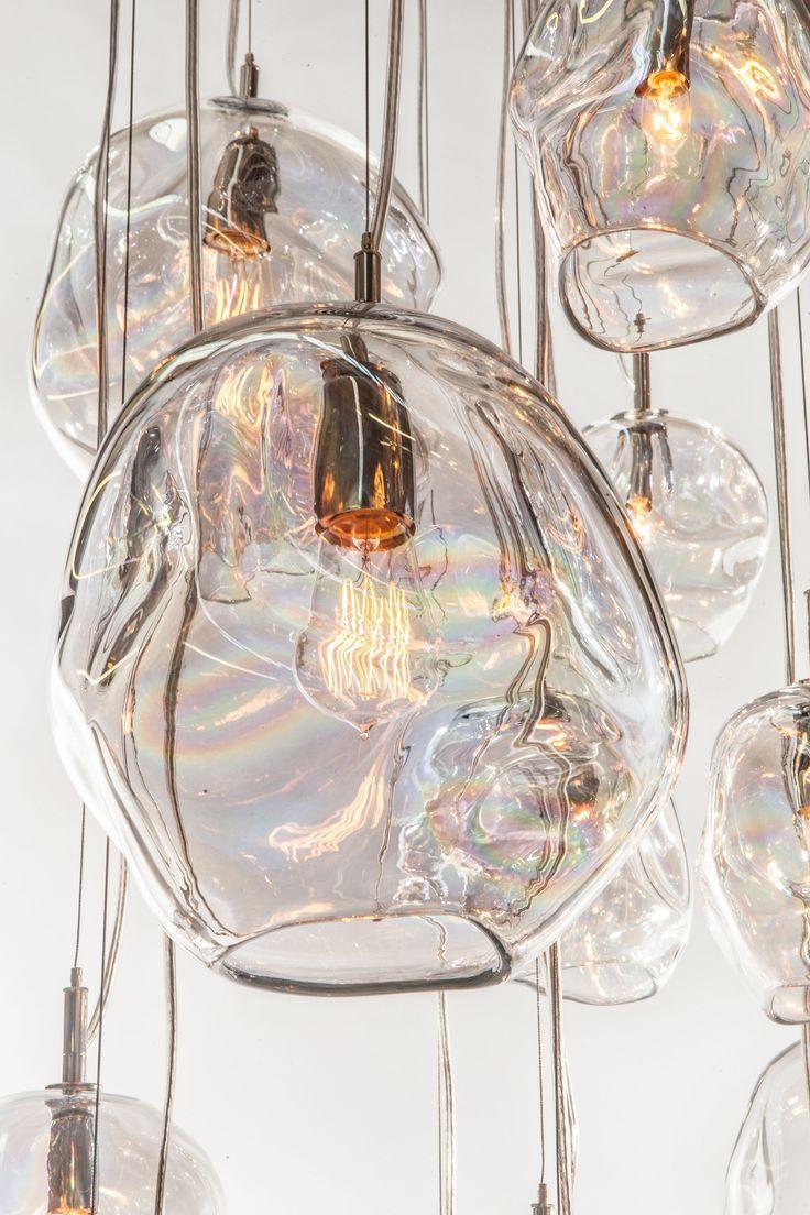 "John Pomp hand blown glass Infinity pendant. 11""w x 10""H.... - http://centophobe.com/john-pomp-hand-blown-glass-infinity-pendant-11w-x-10h/ -"