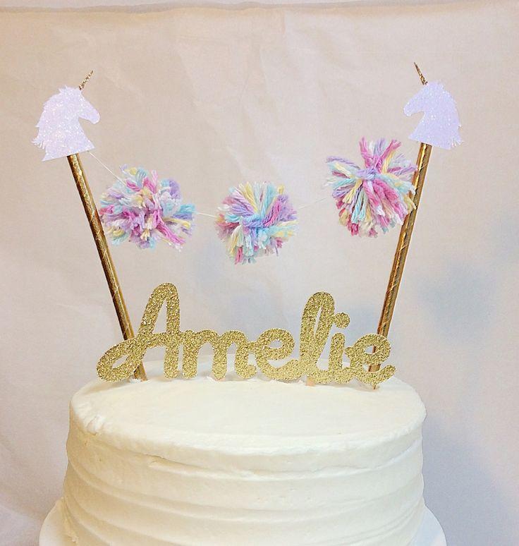 Best 25+ Unicorn Cake Topper Ideas On Pinterest