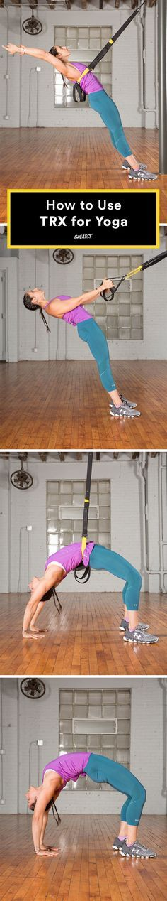 Turns out, your fave suspension trainer can support and advance your yoga practice. #trx #yoga http://greatist.com/move/trx-yoga-workout