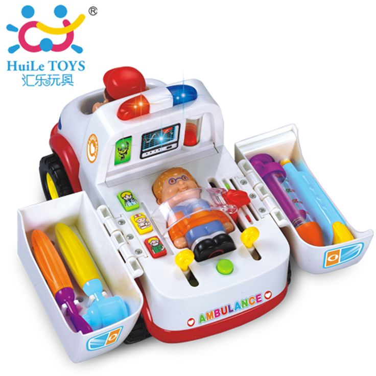 Ambulance Toy Doctor Kit Plastic Ambulance Car with Lights and Music Electric Car Learning & Education Toys Children Best Gifts