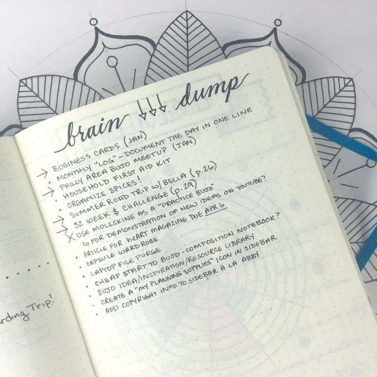 Bullet Journal: Brain Dump