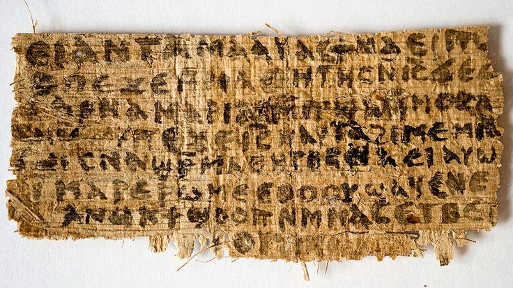 10/04/2014__Análises apontam que papiro que menciona esposa de Jesus não é falso .  Estudo mostra que o documento data do século VI ao IX___ http://veja.abril.com.br/noticia/ciencia/analises-apontam-que-papiro-que-menciona-mulher-de-jesus-nao-e-falso