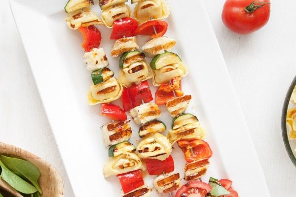 Sweet chilli tortellini BBQ skewers (vegetarian)
