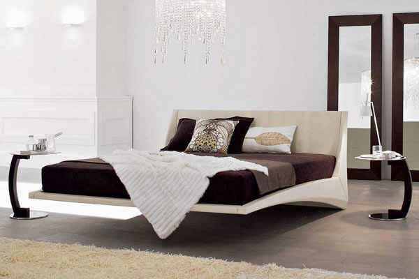 Dylan Modern Leather Bed by Andrea Lucatello