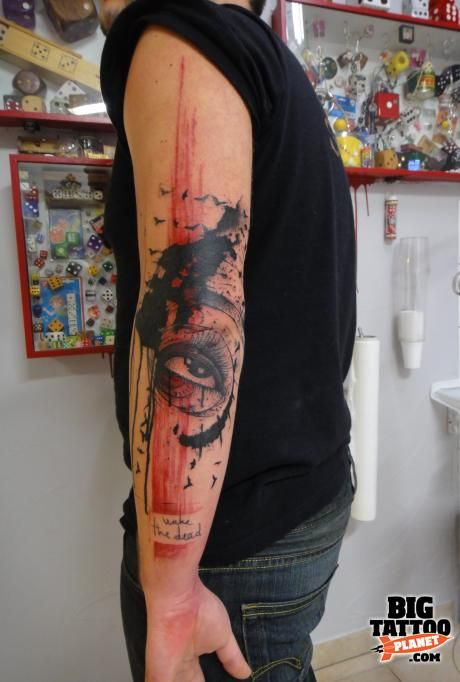 Xoil - Abstract Tattoo. This guy is amazing. Gots to bring in the bacon so I can take a trip to get work done.