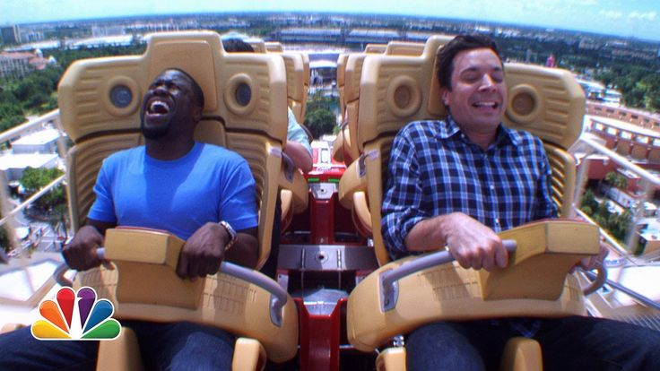 Jimmy and Kevin Hart Ride a Roller Coaster : The Tonight Show Starring Jimmy Fallon - youtube 6/17/14