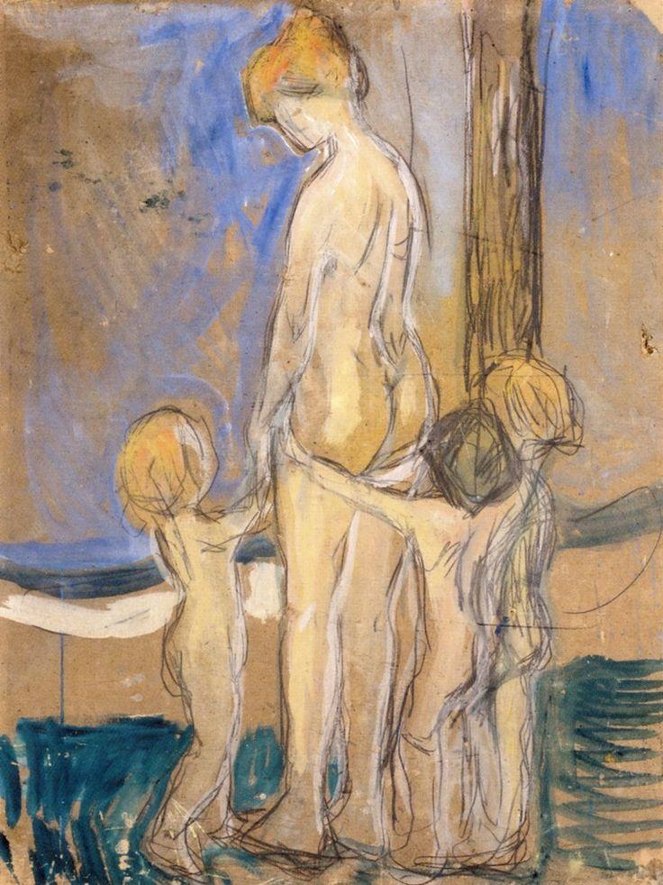 Edvard Munch - 1907, Woman With Children. Munch-museet (Norway - Oslo)