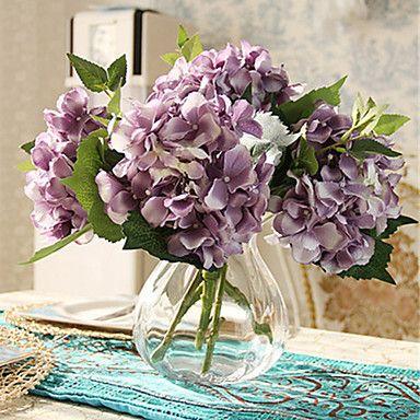 Gren Polyester Hortensior Bordsblomma Konstgjorda blommor #(12