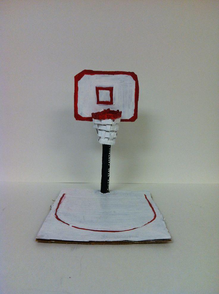 Basketball Court Cardboard Sculpture By Mario Cardboard