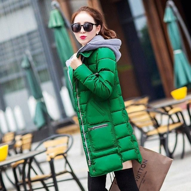 2018 Plus Size Winter Jacket Women Hooded Thick Padded Cotton Coat Female Casual Warm Winter Coat Women Outwear Female Parkas Ye 8