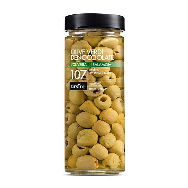 Vendita online | Olive Verdi denocciolate in salamoia vasetto da gr.580 conf. da 6 Ursini - Gastronomia - Prodotti Italiani