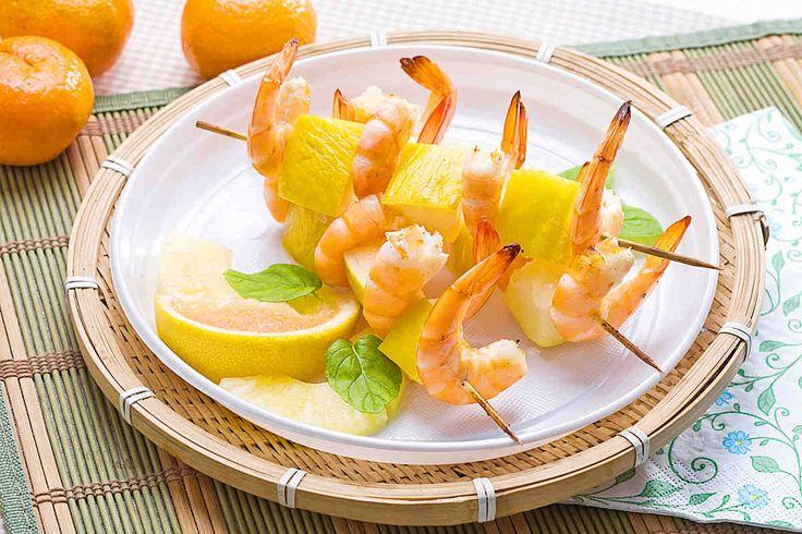Szaszłyki z krewetek i melona #smacznastrona #przepisyTesco #melon #krewetki #szaszłyki #pycha #mniam #food