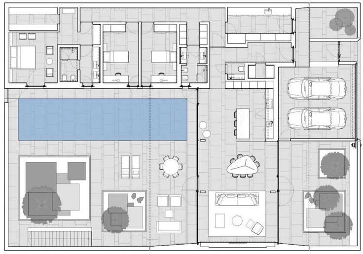 M s de 25 ideas incre bles sobre planos de casas minimalistas en pinterest fachada de casas - Planos de casas minimalistas ...