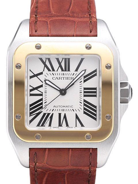 Cartier Santos 100 XL W20072X7 Stahl Gelbgold