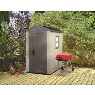KETER 6 X 4 PLASTIC APEX SHED CHEAPEST AROUND @ £139.99 RRP £399 EBAY