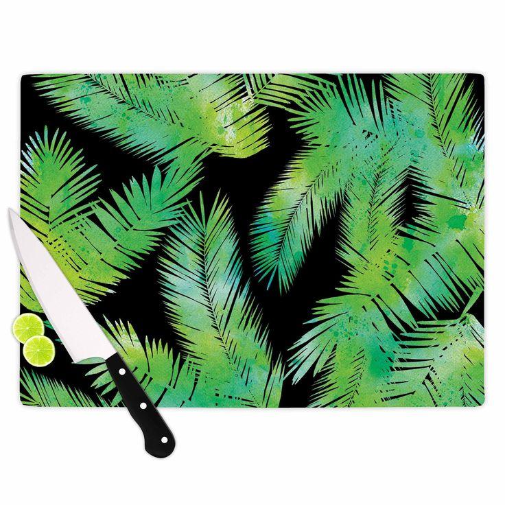 """Draper """"Tropic Green"""" Black Nature Cutting Board"""