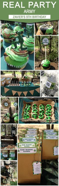 Camo Birthday Party Theme   Zavier's 9th Army Birthday Party from Sarah at Chai Days   Army Party Ideas   Decorated with SIMONEmadeit.com DIY Printable Templates