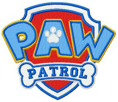 Paw Patrol Logo Machine Embroidery Design Emboridery