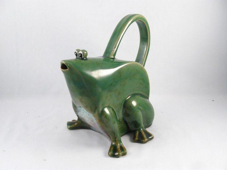 Винтаж искусство керамики лягушка жаба в форме чайника   Керамика и стекло, Керамика и фарфор, Художественная керамика   eBay!