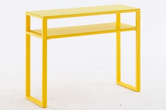 Table haute  - console - verre trempé