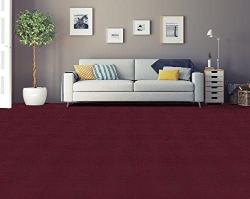 Ben&Jonah Collection Nexus Burgundy 12x12 Self Adhesive Carpet Floor Tile - 12 Tiles/12 sq Ft.