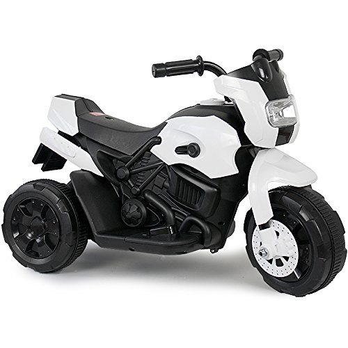 Kinder Elektro Polizei Motorrad Fahrzeug Kindermotorrad Akku Elektromotorrad Schwarz-Weiss
