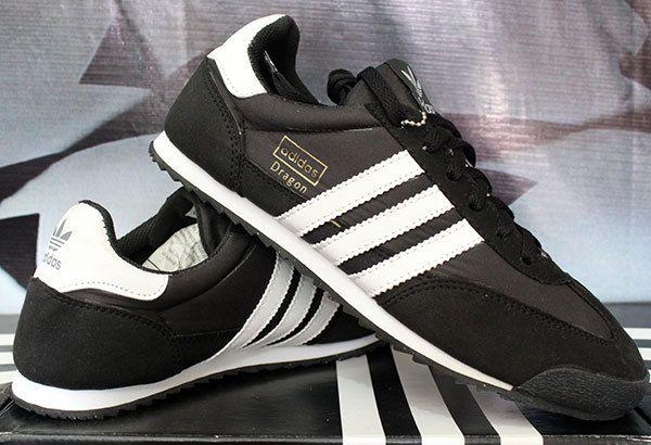Adidas Dragon Hitam Strip Putih (sepatu cassual pria/sepatu)